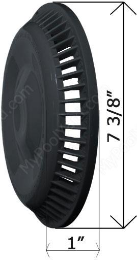 Afras Abf 64 Anti Vortex Black Drain Cover 11064bk Free