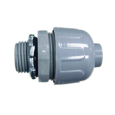 CMI 1/2 inch PVC Straight Connector Liquidtight NMLT-50