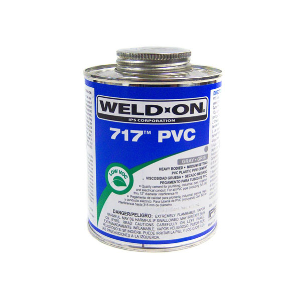 IPS Heavy Bodied PVC Glue Gray Weld-On 717 Quart 10145