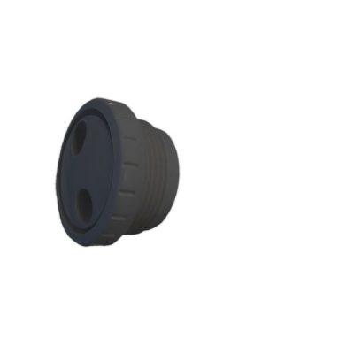 Pool Spa Pulsator Fitting Black 1 1/2 inch MPT Waterway TS102 212-9171