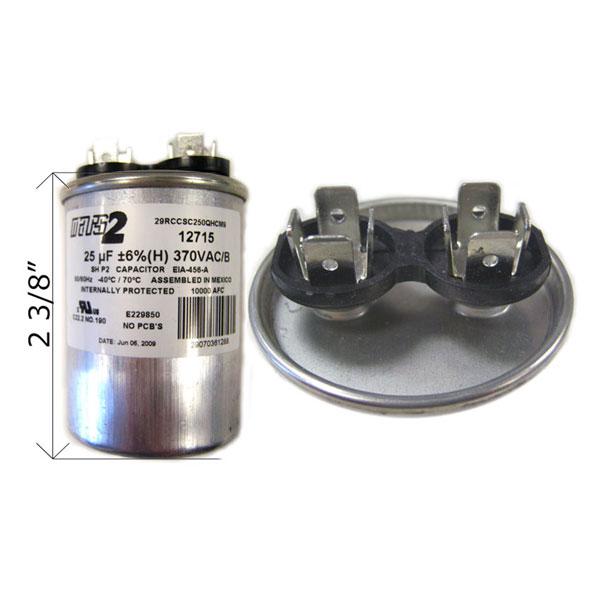 U S Seal Capacitor 25 Mfd 370vac Rd 25 370 Free Shipping