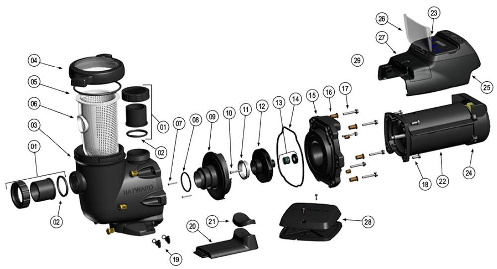 Hayward EcoStar VS Pump Parts Diagram