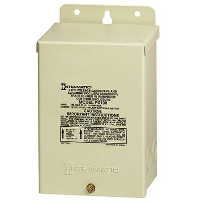 Intermatic Pool Spa Light Transformer 100W 120V to 12V PX100