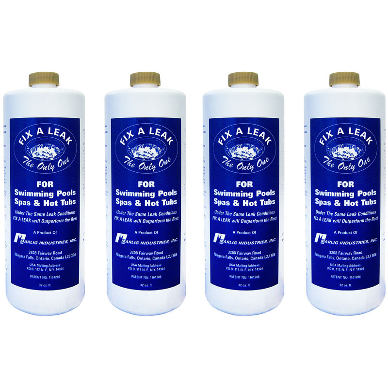 Marlig Fix A Leak Pool Spa Hot Tub Leak Sealer 32oz. FAL32 - 4 Pack