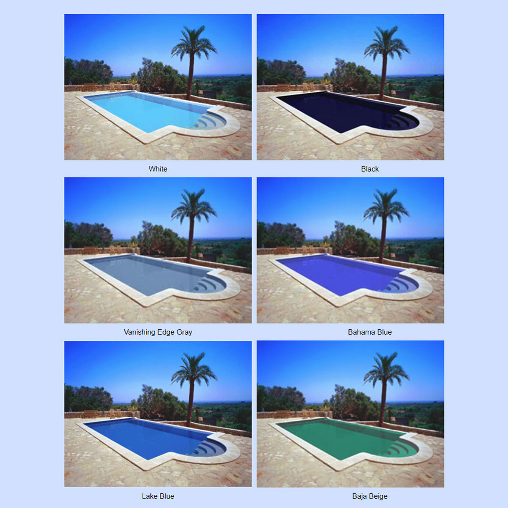 Rubber Pool Paint Colors