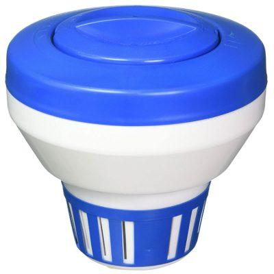 Pooline 3 in. Pool Chlorine Tablet Feeder Floater Dispenser 11063A