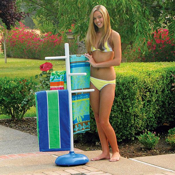 Poolmaster Swimming Pool Poolside Towel Tree Hanger 52505 Free Shipping