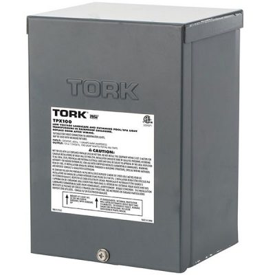 Tork Low Voltage Pool Light Transformer 100W 120VAC To 12V 13V TPX100