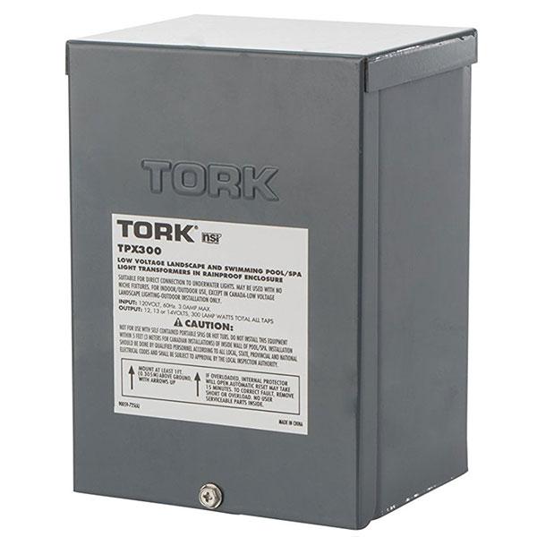 Tork pool light transformer 300w 120vac to 12v 13v 14v - Swimming pool electrical deck box ...